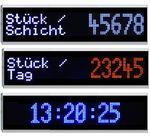 LED Stückzähler mit Uhrzeit Anzeige www.industrie-vertretung.de